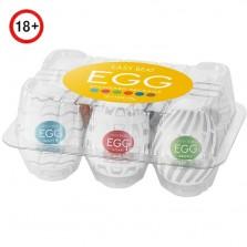Набор мастурбаторов в форме яйца Tenga Eggs Set 3 New Standard 6 шт