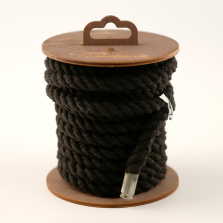 Хлопковая веревка для шибари на катушке, черная, 5 м
