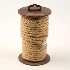 Джутовая веревка для шибари на катушке, натуральная, 10 м
