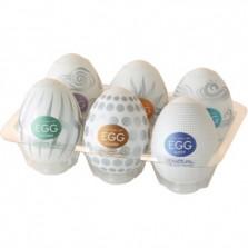 Набор мастурбаторов в форме яйца Tenga Eggs Set Hard Boiled 6 шт