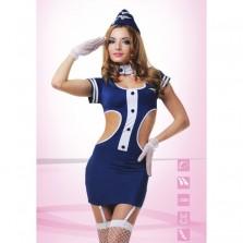 Игровой костюм соблазнительная Стюардесса - S/M
