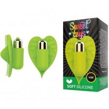 Насадка-вибромассажер для эрогенных зон от компании Sweet Toys, цвет зеленый