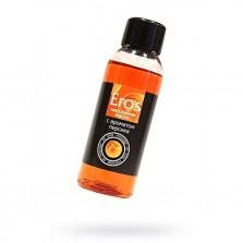 Масло для эротического массажа «Eros Exotic» с ароматом персика от лаборатории Биоритм, объем 50 мл,