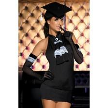 """Комплект Caprice """"Judge"""" (платье/стринги/перчатки) черный L/XL"""