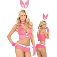 Эротический костюм Зайчик Плейбой розовый S/M