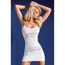 Платье сетка цв белый S/L