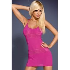 Платье сетка цв розовый S/L