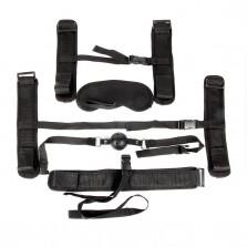 Набор для БДСМ (наручники, оковы, ошейник с поводком, кляп, маска)