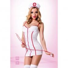 Ролевой женский костюм «Медсестричка» для интимных игр, цвет белый, размер M/L, Le Frivole