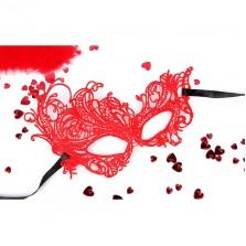 Маска ажурная «Марго», цвет красный